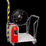Полуавтоматическая стреппинг машина для паллет TP-502MV с поднятой стрелой