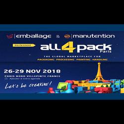 Выставка упаковки ALL4PACK Paris 2018